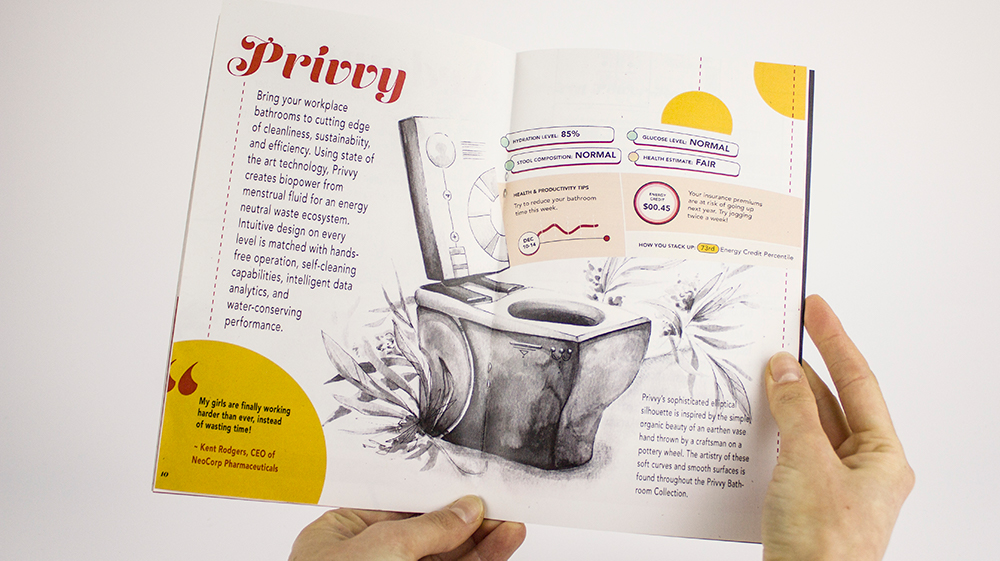 spread from a fictional catalog